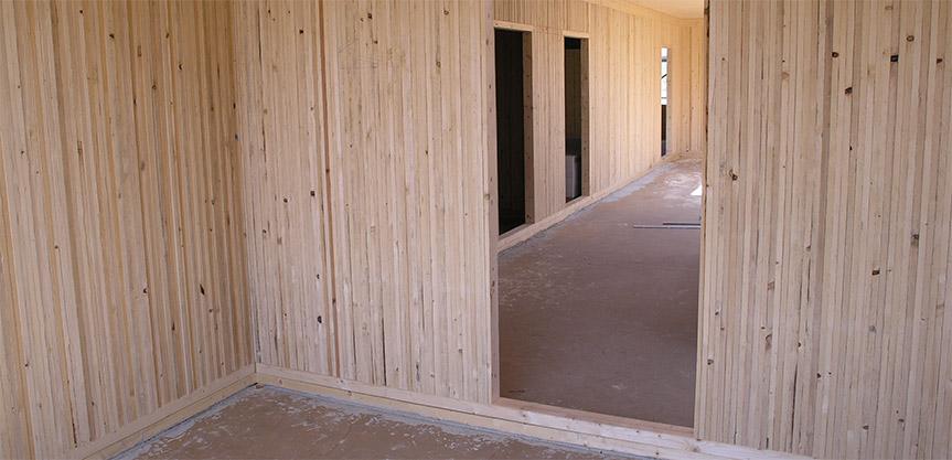 Massivholzmauer Haus